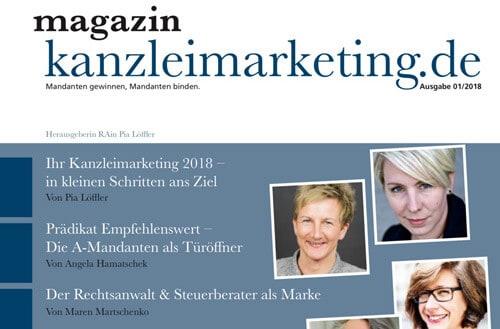 Kanzleimarketing.de Ausgabe März 2018